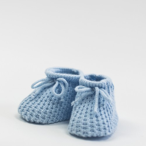 Crochet Blue Booties