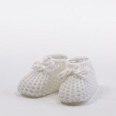 Crochet White Booties