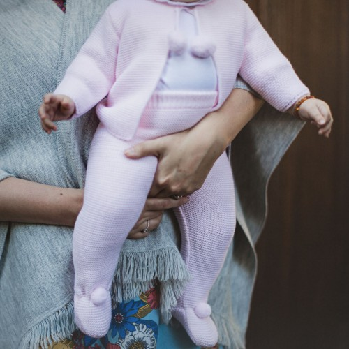 Hallie Pom Pom Cardigan & Legging Suit